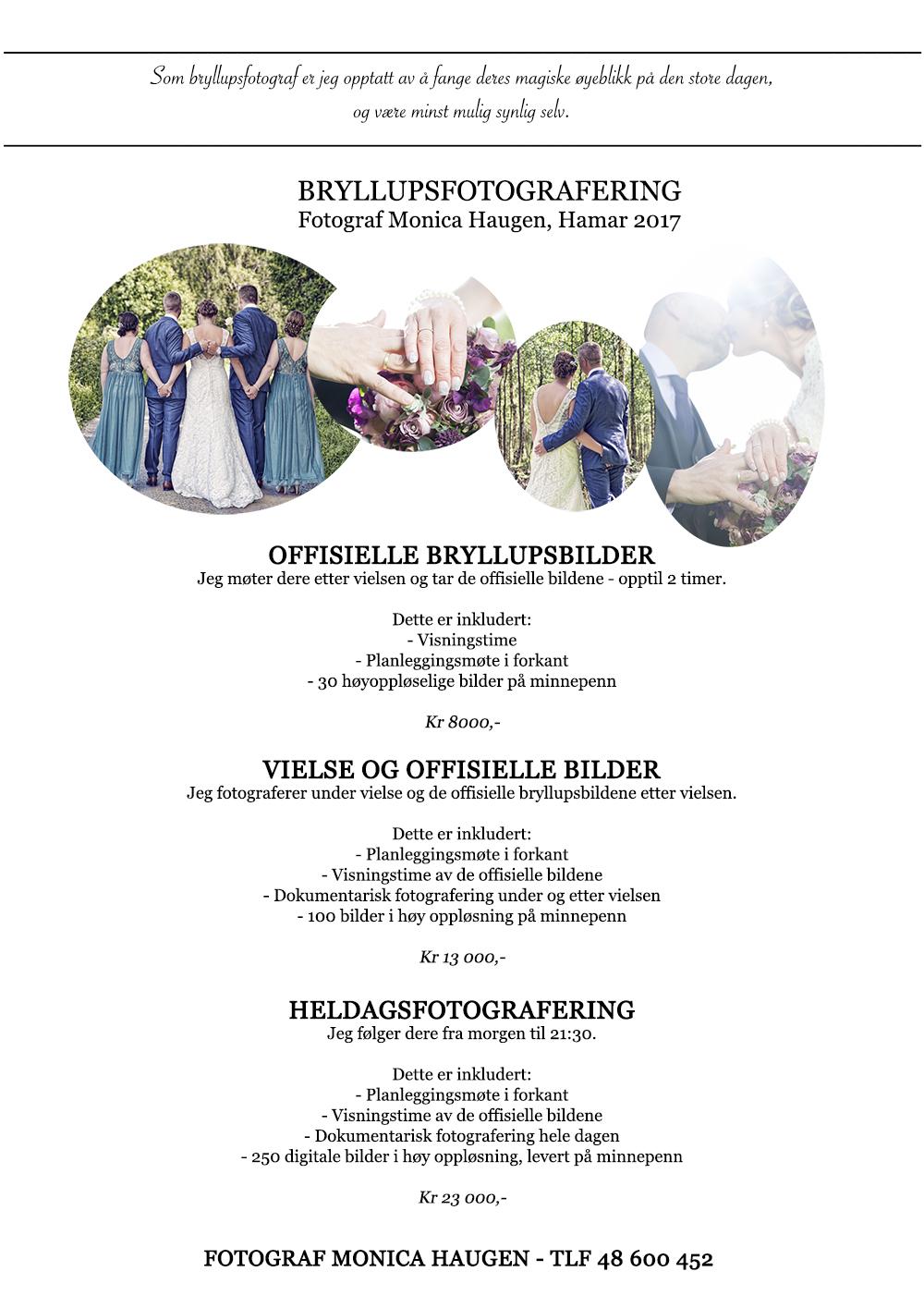 bryllupspriser